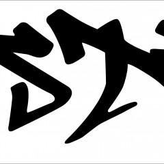 翔プロデュース 切り文字006 CUSTRK w1100mm×316mm